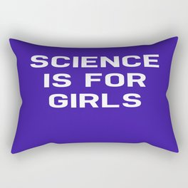 Science Is For Girls Rectangular Pillow