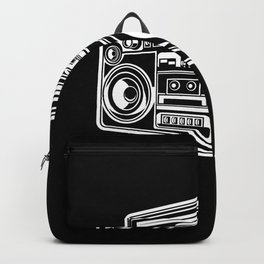 Ghetto Blaster Illustration Gift Idea Backpack