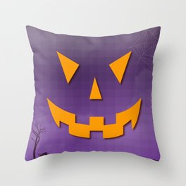 Freaky Smile Throw Pillow