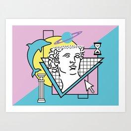 Apollo - Vaporwave - 80s Art Print