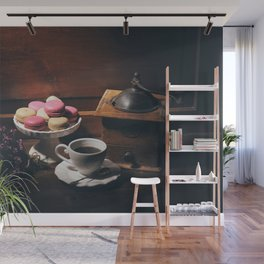 Vintage still life with coffee items Wall Mural