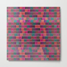 """Full Color Squares Pattern"" Metal Print"