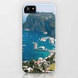 Italy, Capri Landscape View iPhone Case