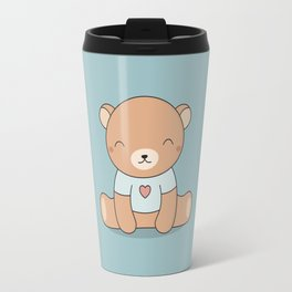 Kawaii Cute Teddy Brown Bear Travel Mug