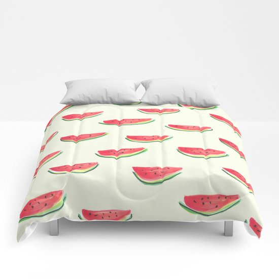 Watercolor Watermelon Comforters