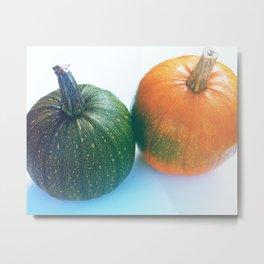 Cheeky Pumpkin Pair Metal Print