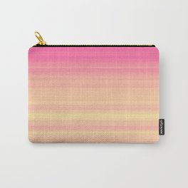Pink Yellow Gradient Stripes Carry-All Pouch