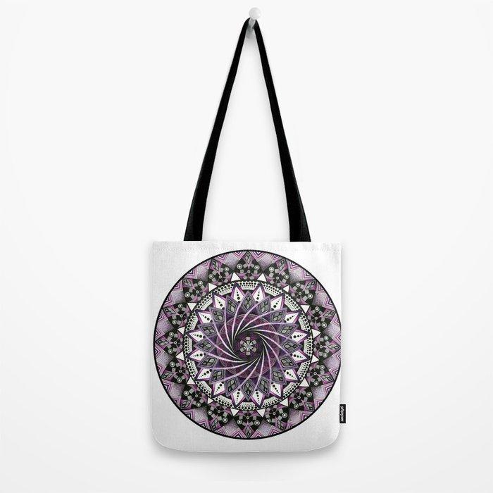 Sahasrara. Crown chakra mandala Tote Bag