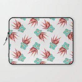 Aloe Vera Plant, Geometric, Coral, Mint, Rose Gold Laptop Sleeve