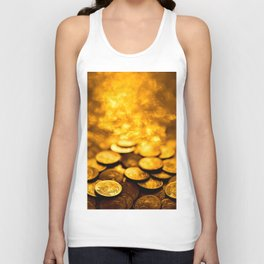 """Gold Coin Pulling Image...""""The Secret"""" If you see again and again, you can get it. Unisex Tank Top"""