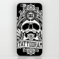 logo iPhone & iPod Skins featuring Logo by Tattoorama