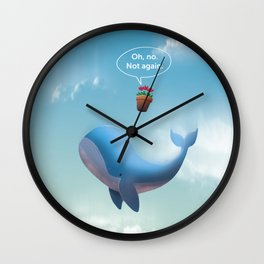 Oh, no. Not Again. Hitchhiker's Guide to the galaxy Wall Clock