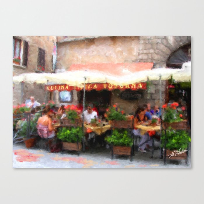European Cafe Montepulciano Canvas Print