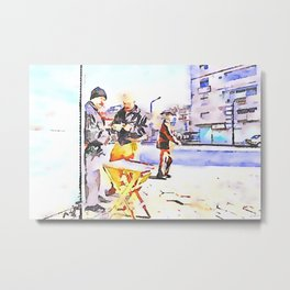 Street players in Aleppo Metal Print