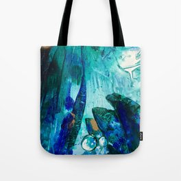Bright Ocean Spaces, Tiny World Collection Tote Bag