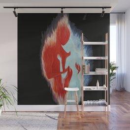 flame man ice woman Wall Mural