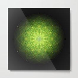 enigma. sacred geometry mandala. Metal Print