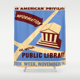 Vintage poster - Book Week Shower Curtain