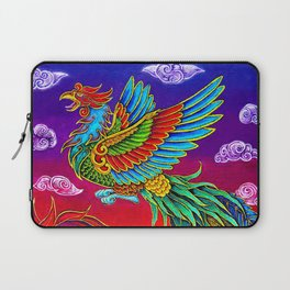Colorful Fenghuang Chinese Phoenix Rainbow Bird Laptop Sleeve