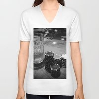 poker V-neck T-shirts featuring Poker Time by Eduard Leasa Photography