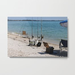 Wishin I Was Fishin III Metal Print