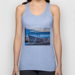 Old fishing boat with net Unisex Tank Top