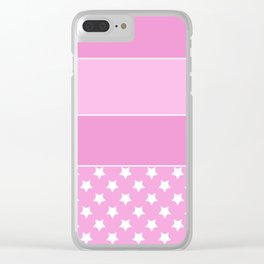 Combined pink pattern Clear iPhone Case