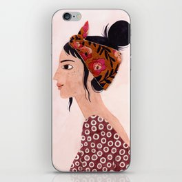 Embroidered scarf iPhone Skin