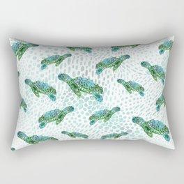 Sea Turtle Squad Rectangular Pillow