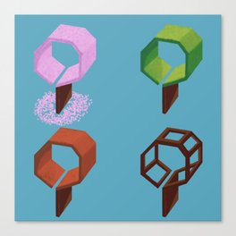 Geometree in season Canvas Print