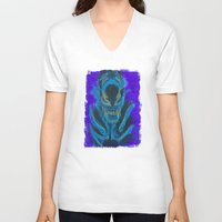xenomorph V-neck T-shirts featuring Alien Xenomorph  by Dukesman