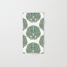 Octopus Emblem Green Hand & Bath Towel