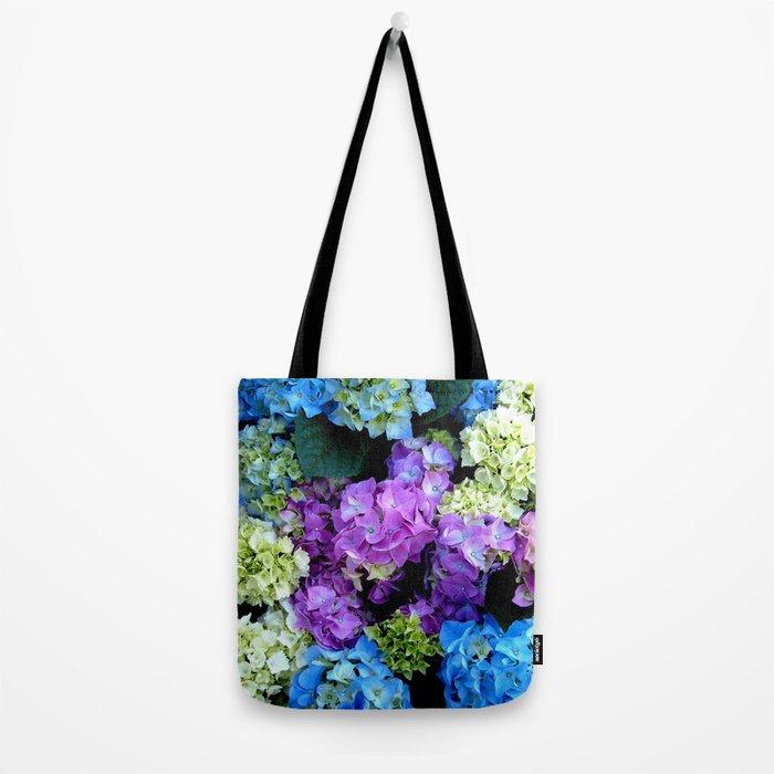 Colorful Flowering Bush Tote Bag