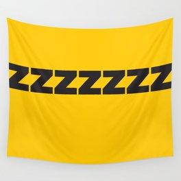 ZZZZZZ Black on Yellow Wall Tapestry