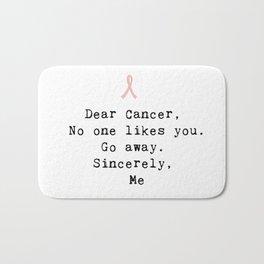 Go Away Cancer Bath Mat