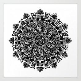 Mandala: Skeleton Leaves Art Print