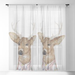 White-tailed Deer Sheer Curtain