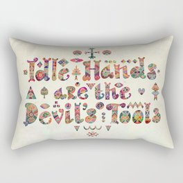 Devil's Tools Rectangular Pillow