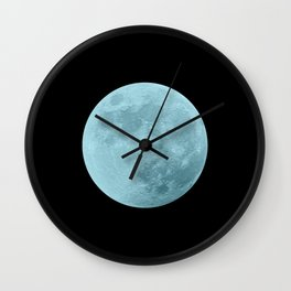 BLUE MOON // BLACK SKY Wall Clock