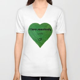Green Heart - CP Awareness Unisex V-Neck