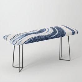 Textured Marble - Indigo Blue Bench
