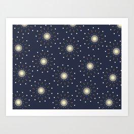 Mesmerizing Stars Art Print