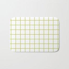 Grid Pattern Chartreuse Bath Mat