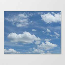 Blue Summer Sky // Cloud Photography Canvas Print