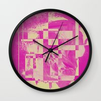 pop art Wall Clocks featuring Pop by MonsterBrown