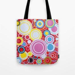 Pop Art Colour Circles Tote Bag