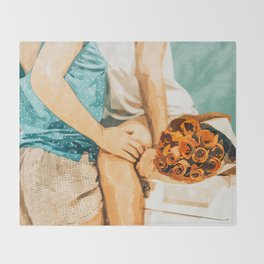 Romance #painting #love Throw Blanket