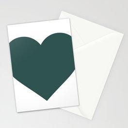 Heart (Dark Green & White) Stationery Cards