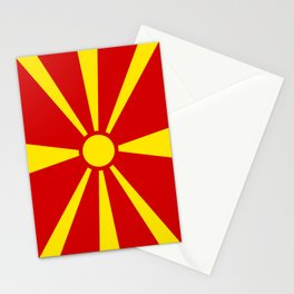 Flag of Macedonia - authentic (High Quality image) Stationery Cards