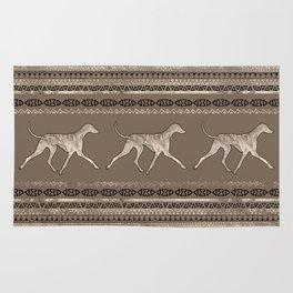 Azawakh Sighthound on African Pattern Rug